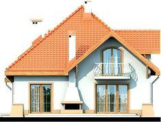 DOM.PL™ - Projekt domu DN Xara CE - DOM PC1-21 - gotowy koszt budowy Family House Plans, Dream House Plans, Home Building Design, Building A House, Beautiful Home Designs, Beautiful Homes, Two Story House Design, House Construction Plan, House Design Pictures