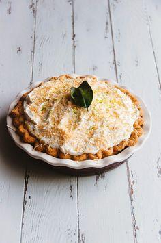 Eat Dessert First - Coconut and Kaffir Lime Custard Pie Fancy Desserts, Delicious Desserts, Yummy Food, Pie Dessert, Dessert Recipes, Fruit Galette Recipe, Tart Recipes, Cooking Recipes, Kaffir Lime