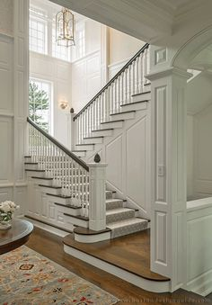 Luxurious Grand Staircase Design Ideas For Amazing Home 18 House Plans, Boston Interior Design, Home, House Inspiration, House Styles, House Design, Staircase Design, New Homes, House Interior