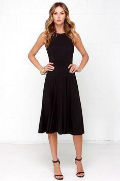 Laissez Flair Black Midi Dressat Lulus.com!