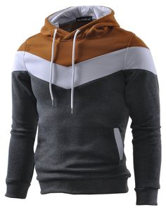 Amazon.com: Mooncolour Mens Novelty Color Block Hoodies Cozy Sport Autumn Outwear: Clothing