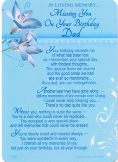 In Loving Memory - Missing You On Your Birthday Dad - Grave/Graveside Memorial…
