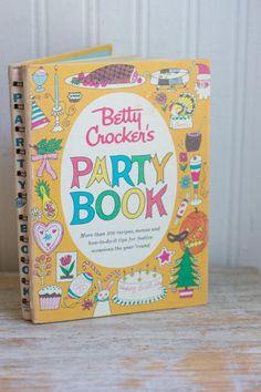Vintage Betty Crocker's Party Book Vintage Cookbook by MollyFinds