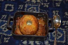 pommes au four au lemoncurd sur un lit de pain d'épice-Cooking Out Sweets, Chicken, Voici, Eat, Desserts, Food, Baked Apples, Fish, Sweet Pastries