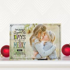 Cherished Days - #Holiday Photo Cards in Reef Blue