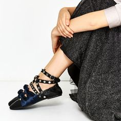 CONTRAST STRAPS BALLERINAS-View all-SHOES-WOMAN   ZARA Philippines