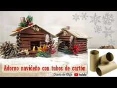 ADORNOS NAVIDEÑOS CON RECICLAJE MANUALIDADES NAVIDAD 2019 CON CARTON - YouTube Christmas Baby, Christmas Time, Christmas Crafts, Christmas Decorations, Xmas, Christmas Ornaments, Diy Paper, Paper Crafts, 242