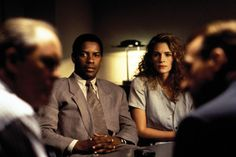 The Pelican Brief with Denzel Washington and Julia Roberts