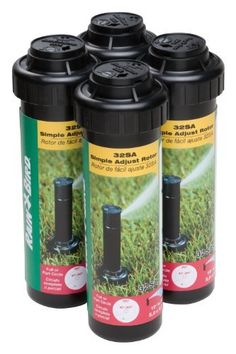 Rain Bird 32SA4PK 4-Count 32SA Rotor by Rain Bird. Save 26 Off!. $29.00. Dependable, residential-grade 40-to-360-degree adjustable rotor for medium-size sprinkler zone. Rugged closed-case design resists debris, maintaining positive pop-up and retraction. Convenient top adjustments for arc and radius minimize overspray waste; 19- to 32-foot spray range. Water-lubricated, gear-driven mechanism for long life; comes with 4 individual rotors. Water-saving Rain Curtain nozzle tec...