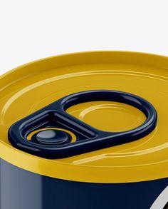 Tin Can Mockup (High-Angle Shot) (Close-Up)
