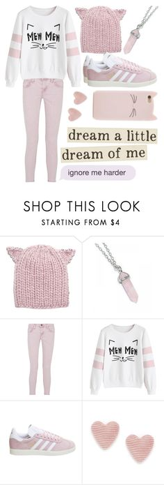 """Untitled #669"" by they-call-me-crybaby ❤ liked on Polyvore featuring Eugenia Kim, Current/Elliott, adidas and Too Late"
