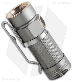 Olight S1-Ti Baton Bead Blasted Titanium Flashlight Cree XM-L2 LED (480 Lumens)