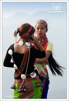 India |  Portraits of young women from Longding District, Arunachal Pradesh, NE India | © Arif Siddiqui