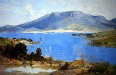 Hobart - Arthur Ernest Streeton (1867-1943) Australia