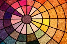color glitter wheel from Art Glitter booth at CHA 2012. Sparkly Heaven