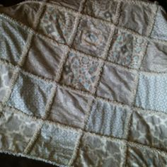 The 'Zen' rag quilt I finished today!