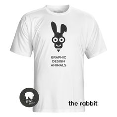 Graphic Design Animals T-Shirt Series, The Cow by George Nikolaidis Dog Shirt, Graphic Design, Mens Tops, Shirts, Animals, Cow, Rabbit, Fashion, Animales