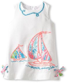 Lilly Pulitzer Little Classic Shift, Multi Wind In My Sail,