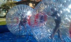 Human Hamster Balls - Fun Party Entertainment from Amazing Amusements - mazelmoments.com