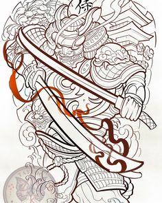 Full Back Tattoos, Tattoo On, Back Pieces, Mini Tattoos, Samurai, Japan, Design, Prime Rib, Drawings