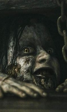 """Sam Raimi's famed low-budget horror film """"The Evil Dead"""" was billed as """"The Ultimate Experience In Grueling Terror,"""" though maybe that ominous tag line s. Arte Horror, Horror Art, Scary Movies, Horror Movies, Zombies, Evil Dead, Horror Pictures, Creepy Horror, Creepy Pictures"""