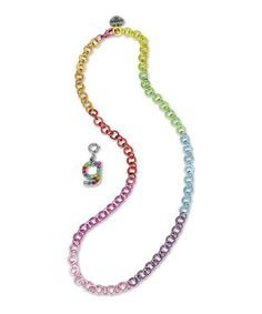 Take a look at this Rainbow 'G' Charm Necklace by CHARM IT! on #zulily today!