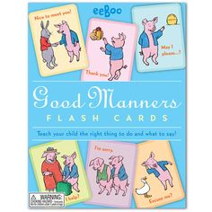 Good Manners picture flashcards