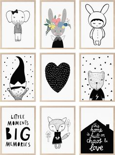 The cutest black and white prints - ebabee likes