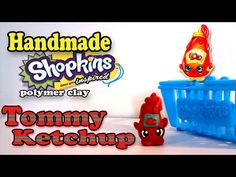 How To Make Shopkins: Tommy Ketchup Polymer Clay Tutorial! - YouTube