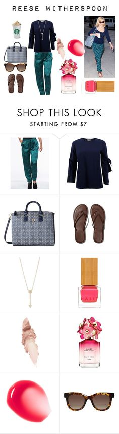 """Reese Witherspoon"" by artteca ❤ liked on Polyvore featuring Dorothee Schumacher, Tommy Hilfiger, Abercrombie & Fitch, EF Collection, Habit Cosmetics, Maybelline, Marc Jacobs, Thierry Lasry, airport and jogger"
