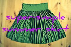this girl makes some easy skirts #sewing #skirts