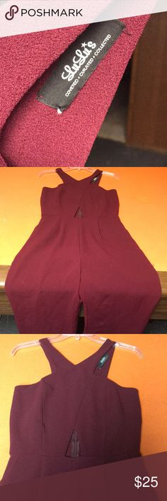 Jumpsuit Wine colored , wide legged , and stylish jumpsuit Lulu's Other