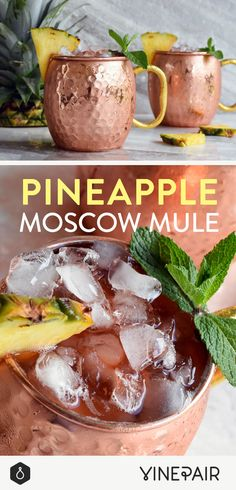 The perfect drink to celebrate the beginning of Fall! Drinks Alcohol Recipes, Cocktail Recipes, Wine Cocktails, Drink Recipes, Sangria, Cocktail Drinks, Pineapple Drinks, Pineapple Cocktail, Party Drinks
