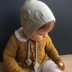 Bonnet for autumn / hat for autumn pattern by Marion Alseth knitting patterns knitting patterns baby knitting patterns cardigans knitting patterns children knitting Knitted Baby Clothes, Crochet Baby Hats, Knitted Hats, Baby Knits, Crochet Cats, Crochet Birds, Crochet Food, Knitted Dolls, Crochet Animals