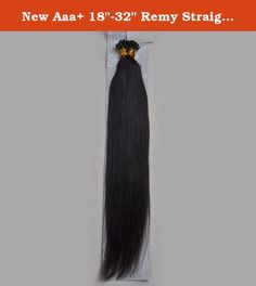 """New Aaa+ 18""""-32"""" Remy Straight Keratin Nail Tip U-tip Human Hair Extensions 100grams 100s More Colors Available (22"""" 100gr, #1B Natural Black). Material:Premium Quality Exquisite 100% Human Hair Length:18-32"""" Weight:100grams(1gr/strand) Texure:Straight Quality:Silky Soft,Tangle free,can be Dyed darker instead of lighter,Glued,Washed."""