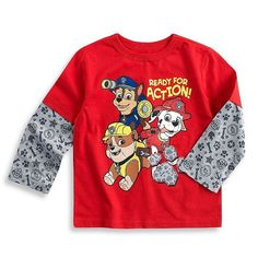 "Nickelodeon Paw Patrol Long Sleeve ""Ready for Action""  Shirt BNWT Sz 4T VHTF #Nickelodeon #Everyday Sold in My Store!!"