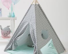 Childrens Teepee Kids Play Tent Tipi for Kids Best by WigiWama  sc 1 st  Pinterest & Floor mat u2013 Breath of Turquoise | Turquoise Teepee play tent and ...
