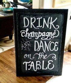 """This is gonna be one fun reception!  (29""""x 42"""" chalkboard....hard to miss)"""