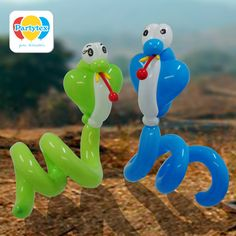 Serpientes elaboradas con Globos Mil Figuras Partytex.