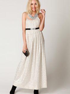 Foiled Maxi Dress