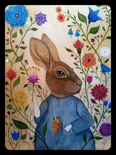 Rabbit by Linsay Blondeau - Done almost entirely in g+ hangouts! via Insects and Oddities
