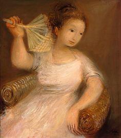Raúl Soldi (1905 - 1994) La Pantalla,1947 óleo sobre tela- 80 x 70 cm