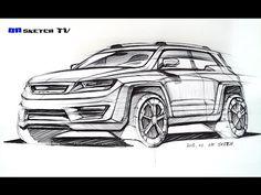 """온스케치 TV Sketch - """" Ford Fusion Concept design sketch (Color Pencil+AD Marker)"""" - YouTube"""