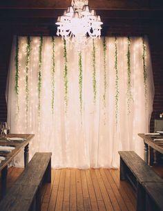 Photographer: Joyeuse Photography; Intimate rustic chic wedding ceremony;