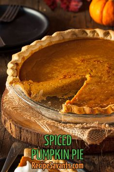 Spiced Pumpkin Pie Celebrate the bounty of harvest time with my tasty pumpkin pie recipe! It is a cinch to make with a store-bought pie shell, pumpkin puree and classic seasonal spices. Your pumpkin pie will be the highlight of your Thanksgiving feast. Spiced Pumpkin, Pumpkin Pie Recipes, Pumpkin Puree, Pumpkin Spice, Sweets Recipes, Gourmet Recipes, Desserts, Thanksgiving Cakes, Dessert Dishes