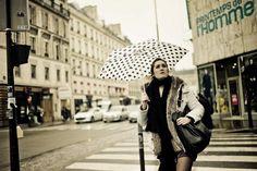 Girl with the polkadot umbrella