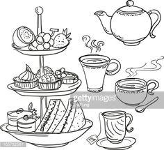 afternoon tea illustration - Google Search