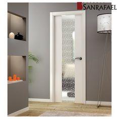 Puertas de madera on pinterest puertas usa la and - Cristales para puertas interiores ...