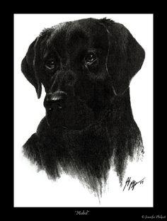 COMMISH:Black Labrador - Mabel by jocarra on deviantART