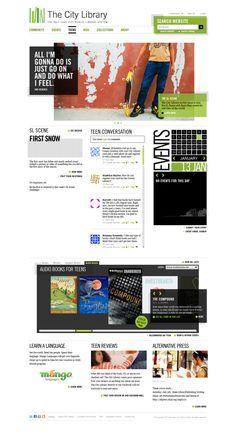 The City Library: bottom portion #websitedesign #webdesign #layout